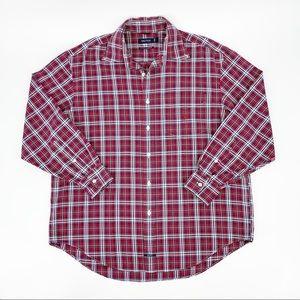Nautica 80's Two Ply Basketweave Button Down Shirt